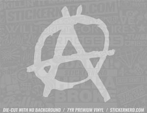 Anarchy Anarchist Sticker #3636 - STICKERNERD.COM