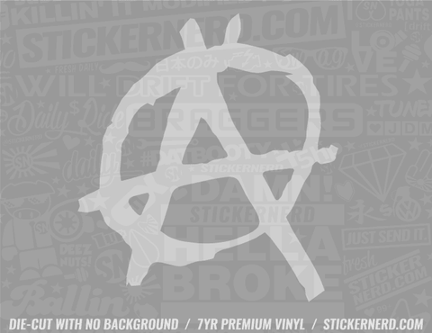 Anarchy Anarchist Sticker - Window Decal - STICKERNERD.COM