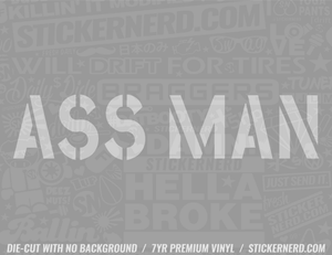 Ass Man Sticker