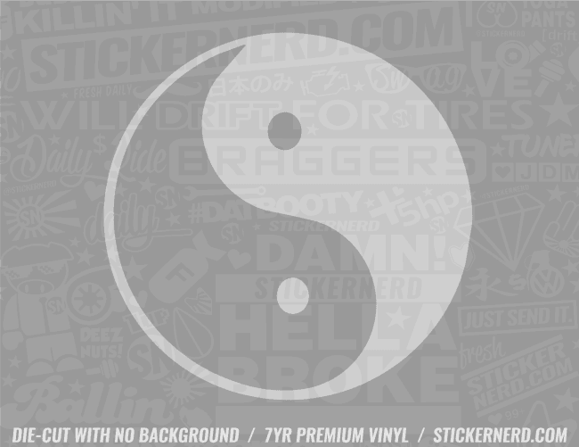Ying Yang Sticker - Window Decal - STICKERNERD.COM