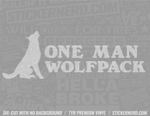 One Man Wold Pack Sticker - Window Decal - STICKERNERD.COM