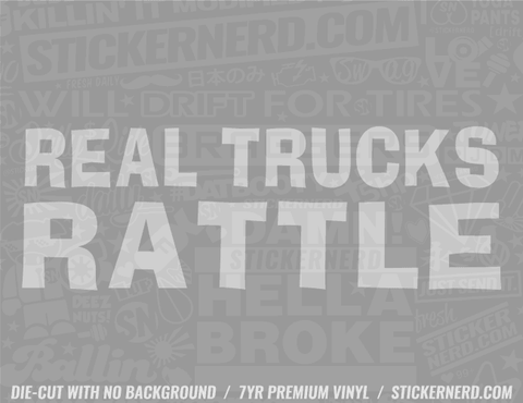 Real Trucks Rattle Sticker - Window Decal - STICKERNERD.COM