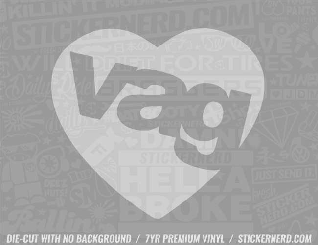 Heart Vag Euro Sticker