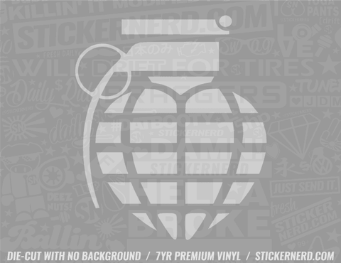 Grenade Heart Sticker