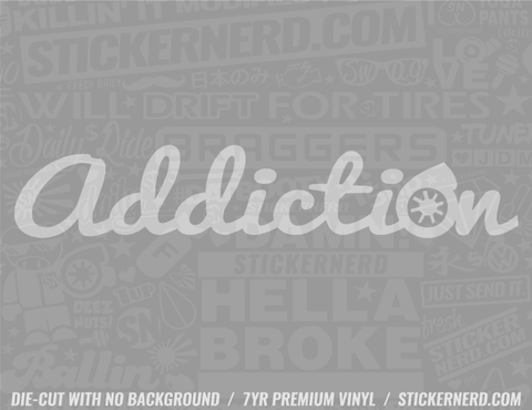 Addiction Turbo Sticker - Window Decal - STICKERNERD.COM