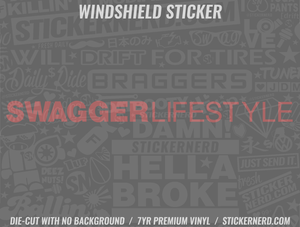 Swagger Lifestyle Windshield Sticker - Window Decal - STICKERNERD.COM