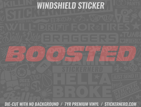 Boosted Windshield Sticker