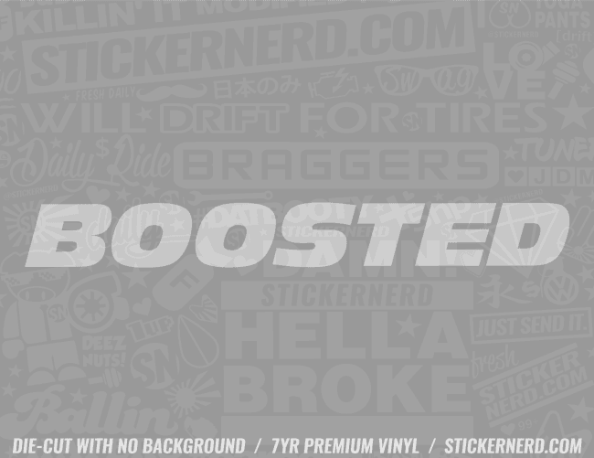 Boosted Sticker - Window Decal - STICKERNERD.COM