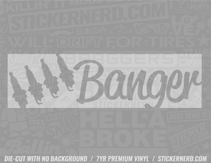 Four Banger Sticker - Window Decal - STICKERNERD.COM