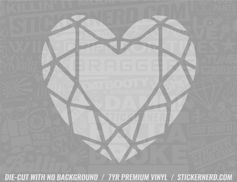 Diamond Heart Sticker