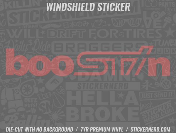 BooSTIn Windshield Sticker
