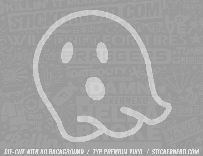 Ghost Emoji Sticker - Window Decal - STICKERNERD.COM