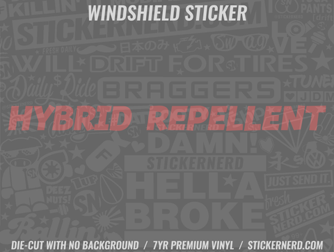 Hybrid Repellent Windshield Sticker