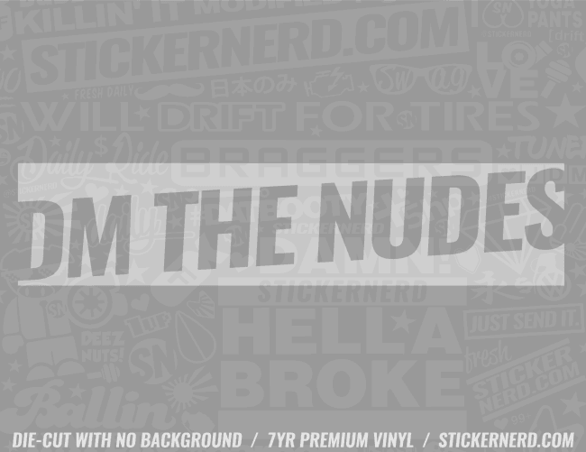 DM The Nudes Sticker - Window Decal - STICKERNERD.COM