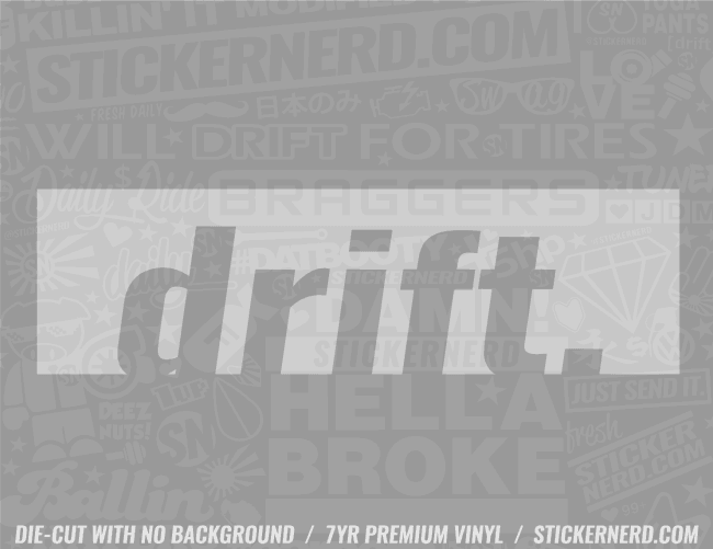 Drift Slap Style Sticker