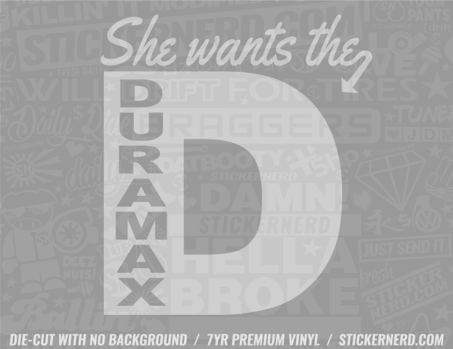 She Want's The D Sticker - Window Decal - STICKERNERD.COM