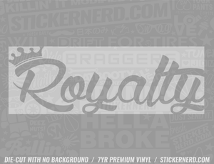 Royalty Slap Style Sticker