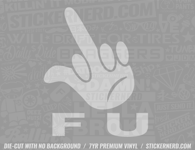 Fuck You Finger Sticker - Window Decal - STICKERNERD.COM