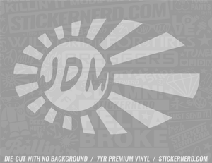 JDM Flag Oval Sticker - Window Decal - STICKERNERD.COM