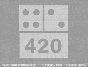 420 Sticker - Window Decal - STICKERNERD.COM