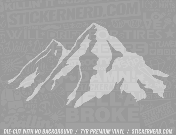 Mountains Sticker - Window Decal - STICKERNERD.COM