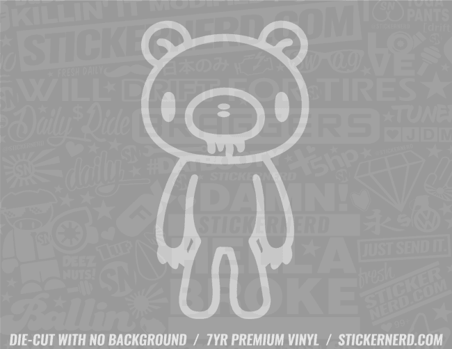 Gloomy Bear Sticker - Window Decal - STICKERNERD.COM