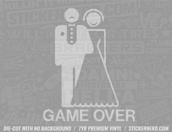 Game Over Sticker - Window Decal - STICKERNERD.COM