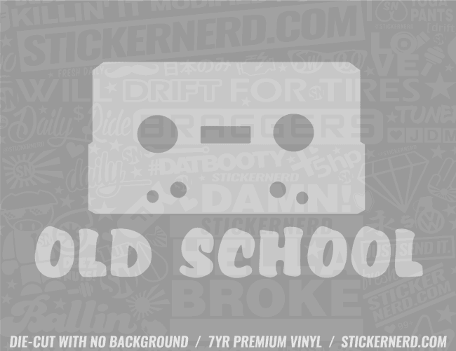 Old School Sticker - Window Decal - STICKERNERD.COM