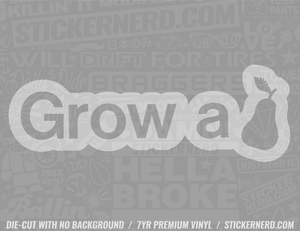 Grow A Pear Sticker - Window Decal - STICKERNERD.COM
