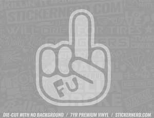 FU Finger Sticker - Window Decal - STICKERNERD.COM