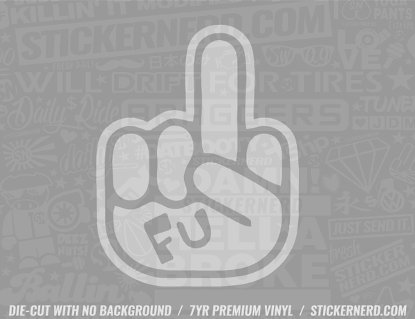 FU Finger Sticker