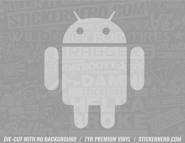 Android Sticker - Window Decal - STICKERNERD.COM