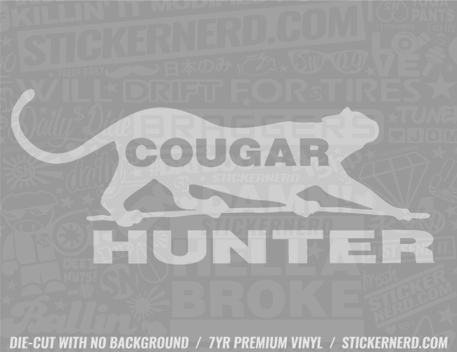 Cougar Hunter Sticker - Window Decal - STICKERNERD.COM