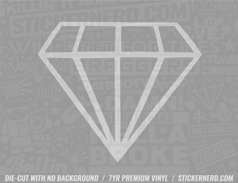 Diamond Sticker - Window Decal - STICKERNERD.COM