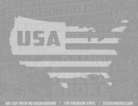 America Flag USA Sticker - Window Decal - STICKERNERD.COM