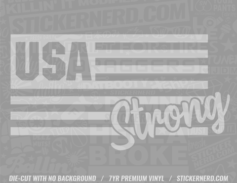 USA Strong Sticker - Window Decal - STICKERNERD.COM