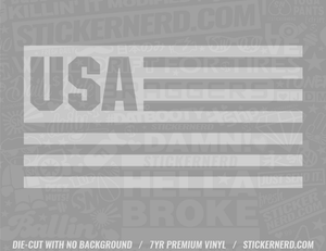 USA Flag Sticker - Window Decal - STICKERNERD.COM