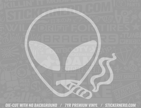 Stoner Alien Sticker - Window Decal - STICKERNERD.COM