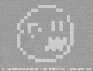 Video Game 8-Bit Ghost Sticker - Window Decal - STICKERNERD.COM