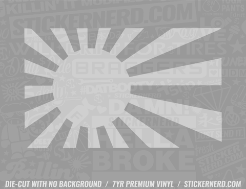 Japan Flag Rising Sun Sticker - Window Decal - STICKERNERD.COM