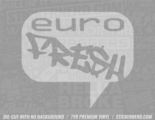 Euro Fresh Sticker - Window Decal - STICKERNERD.COM