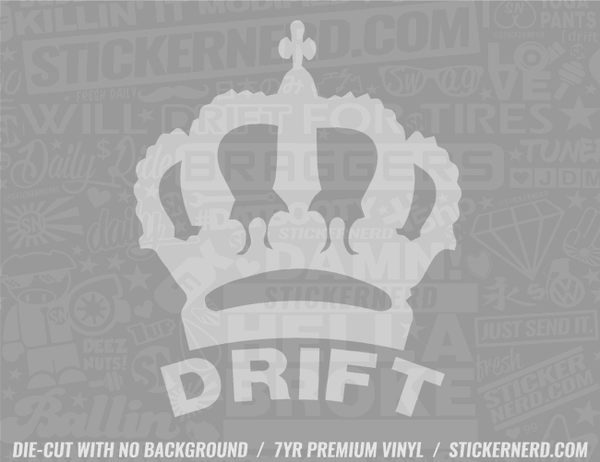 Drift King Sticker
