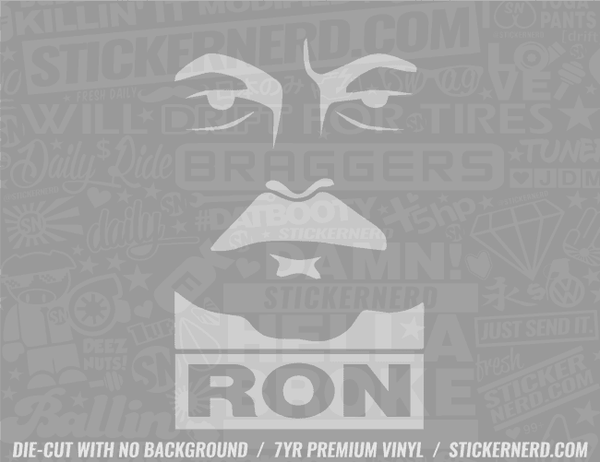 Ron Sticker - Window Decal - STICKERNERD.COM