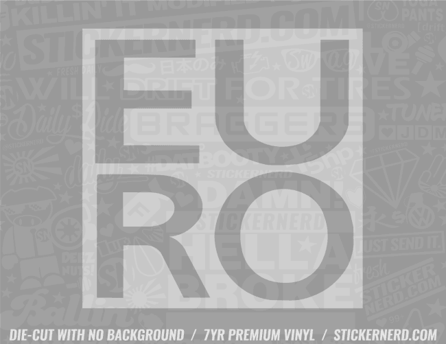 Euro Box Sticker