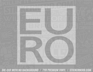 Euro Box Sticker - Window Decal - STICKERNERD.COM