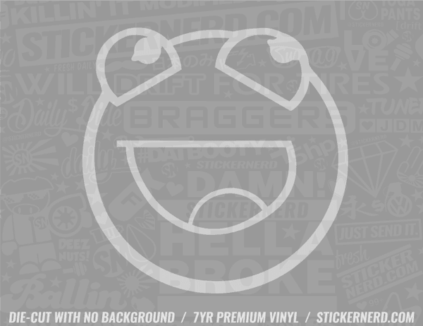 Smiley Sticker - Window Decal - STICKERNERD.COM
