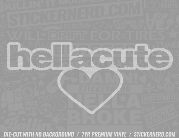 Hella Cute Heart Sticker - Window Decal - STICKERNERD.COM