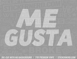 Me Gusta Meme Sticker - Window Decal - STICKERNERD.COM