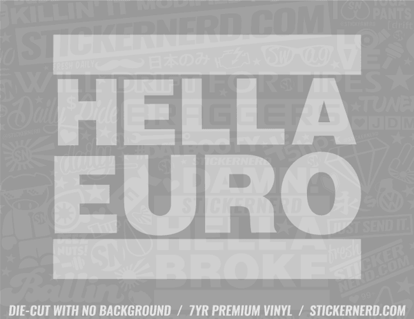 Hella Euro Sticker