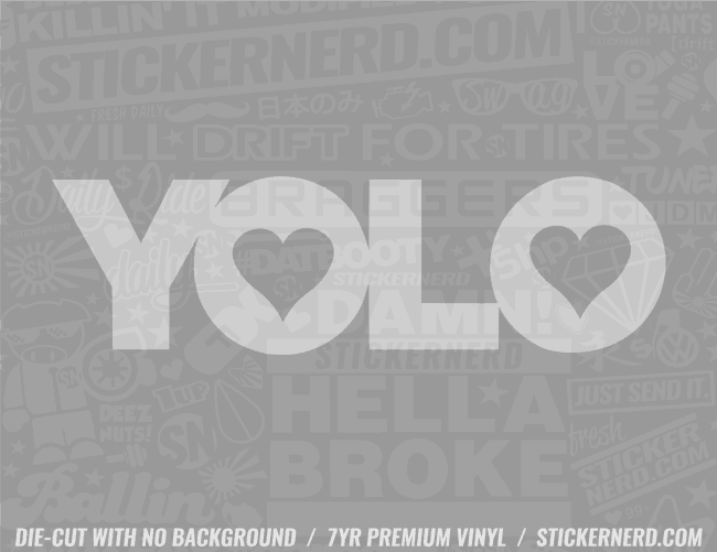 YOLO Sticker - Window Decal - STICKERNERD.COM